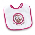 Owl Pink 1st Birthday Bib